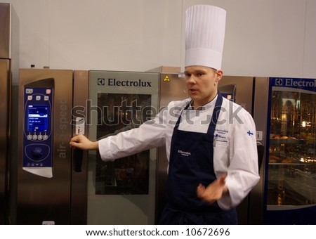 Cooking demostration - stock photo