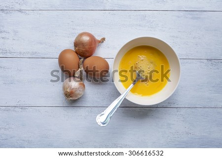 Cooking egg menu - stock photo