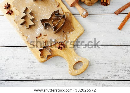 cooking holidays christmas cookies, food closeup  - stock photo