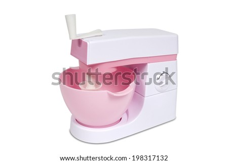 Cooking mixer or blender, isolated on white. Clipping path included. - stock photo