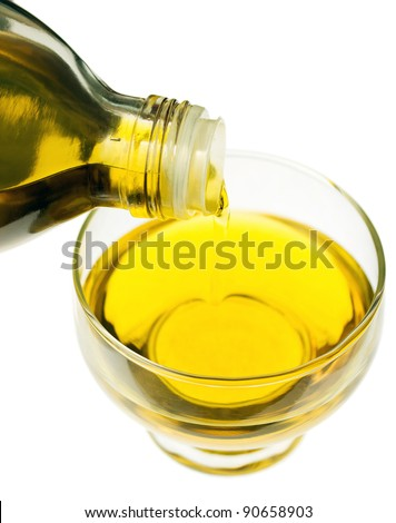 Cooking oil isolated on white - stock photo