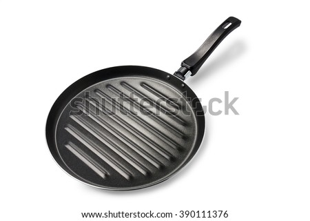 cooking pan on white background