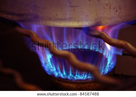 Cooking pot on a gas cooker