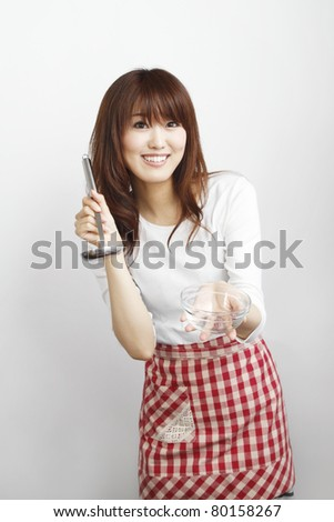 Cooking woman - stock photo