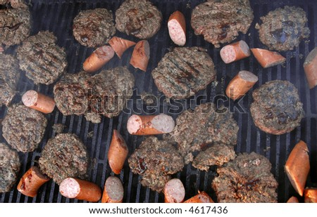 Cookout on The Grill - stock photo