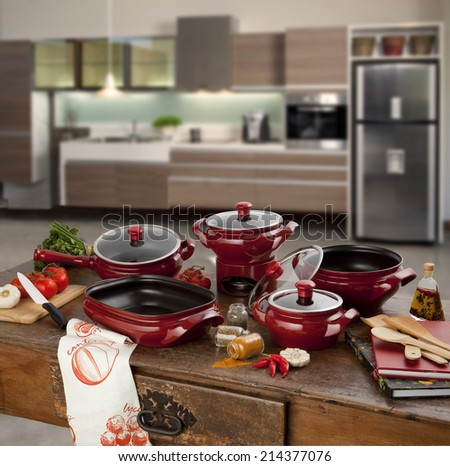 cookware for cooking - stock photo