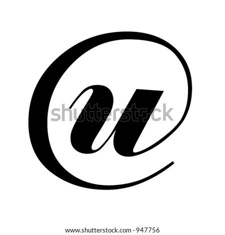 Cool black beveled or flat modern letters of alphabet u - stock photo