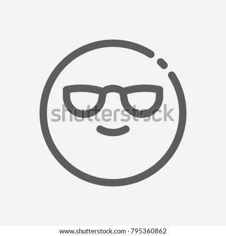 Cool Emoji Icon Line Symbol Isolated Stock Illustration 795360862