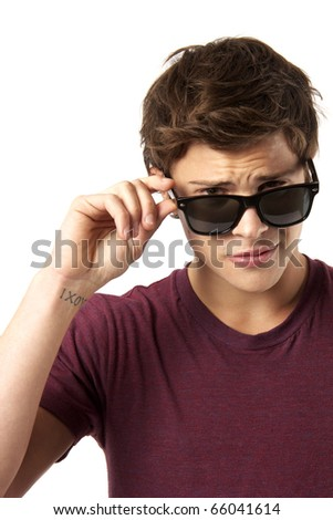 Cool Guy in Sunglasses - stock photo