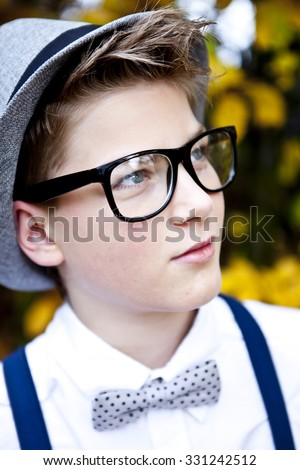 Cool hipster teenager portrait