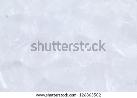 Cool ice background in white - stock photo