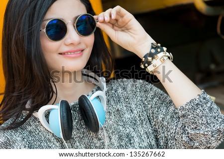 Cool lady - stock photo