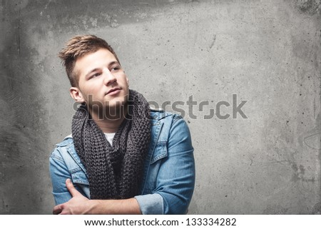 Cool male portrait - stock photo