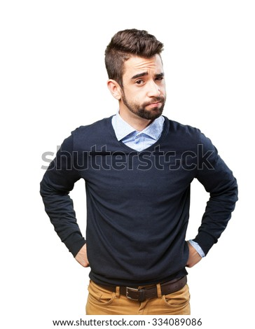 cool man doubting - stock photo