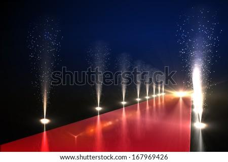 Cool nightlife lights - stock photo
