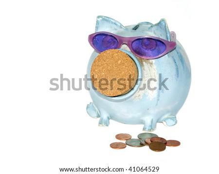 Cool piggy bank - stock photo