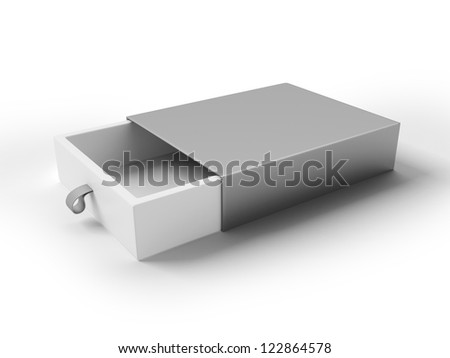 Cool Realistic White Package isolated on a white background