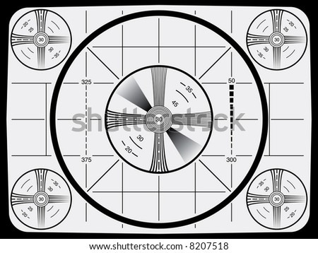 Cool Retro Television Test Pattern - stock photo