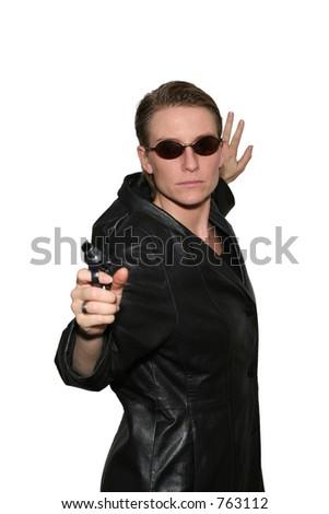 Cool spy - stock photo