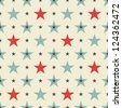 cool stars seamless pattern - stock photo