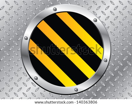 Cool steel plate with striped cap design