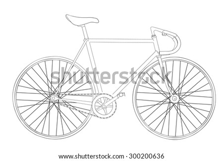 Cool vintage bicycle illustration  - stock photo