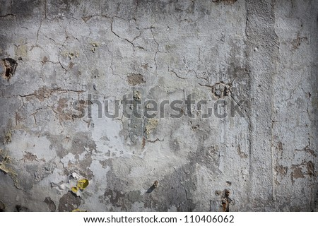 Cool vintage plaster concrete wall wallpaper background - stock photo