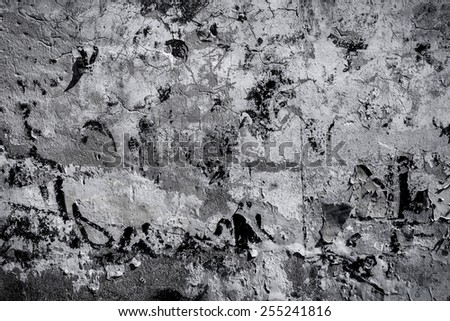 Cool vintage plaster concrete wall wallpaper texture - stock photo