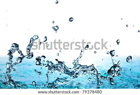 cool water on gradient background