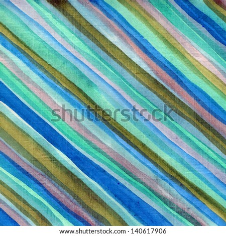 Cool watercolor stripes  background - stock photo