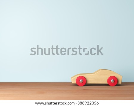 Cool wooden toy cars - stock photo