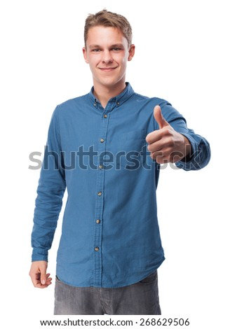 cool young-man doing okay sign - stock photo