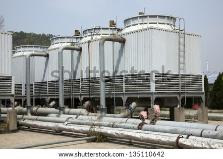 Cooling tower - stock photo