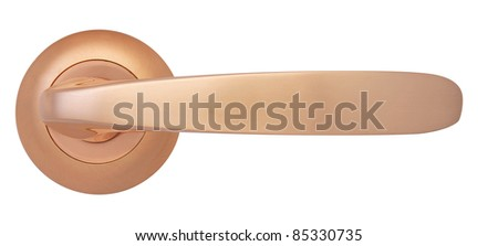 Cooper Door handle Gloss isolated on white