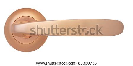 Cooper Door handle Gloss isolated on white - stock photo