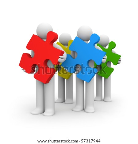 Cooperation and development metaphor - stock photo
