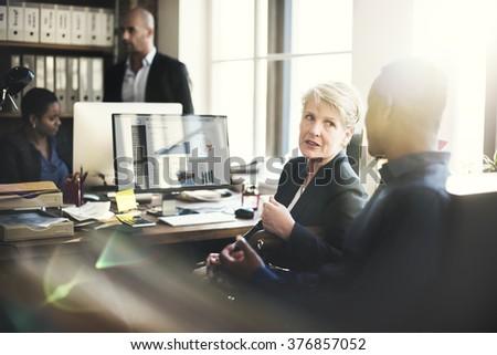 Cooperation Corporate Achievement Teamwork Concept - stock photo