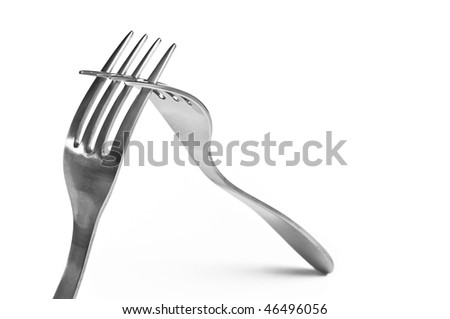 Cooperation forks - stock photo