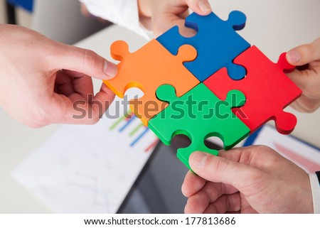 Cooperation is the strategic solution - stock photo