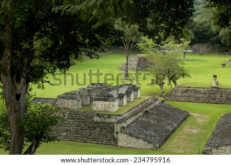 Copan, the archeological site of Mayan civilization, Honduras - stock photo