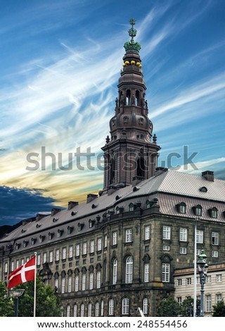 Copenhagen city hall, Denmark - stock photo