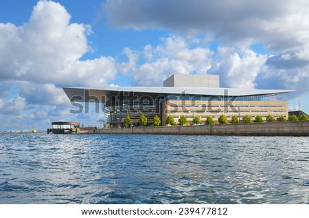 COPENHAGEN, DENMARK - AUGUST 22, 2014: The Copenhagen Opera House (Operaen) is the national opera of Denmark. It was designed by the architect Henning Larsen.