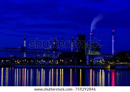 Copenhagen Denmark nightscape long exposure