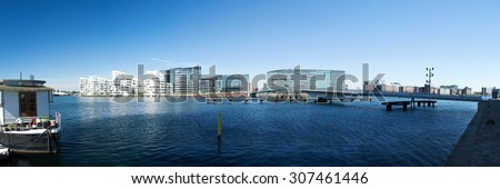 Copenhagen is the capital Denmark and the cultural and economical center. - stock photo