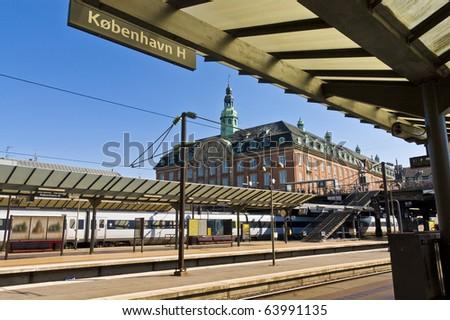 Copenhagen main train station, Denmark - stock photo