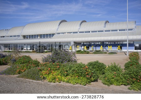 Copiapo,Atacama,Chile-Enero 11, 2015: new airport in the city of Copiapo, Chile. - stock photo