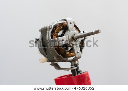 Copper axis coil of fan motor