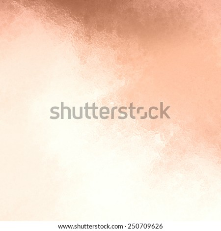 copper background with white cloudy grunge glass or metallic foil texture - stock photo