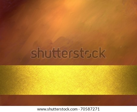 copper colored background with sunny highlights, smeary grunge texture with soft lighting, oil painting feeling, metallic gold stripe layout design, and copy space to add own text, title, or image - stock photo
