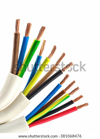 copper electric wire - stock photo